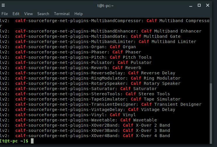⚓ T7369 GStreamer cannot find/load Calf audio plugins