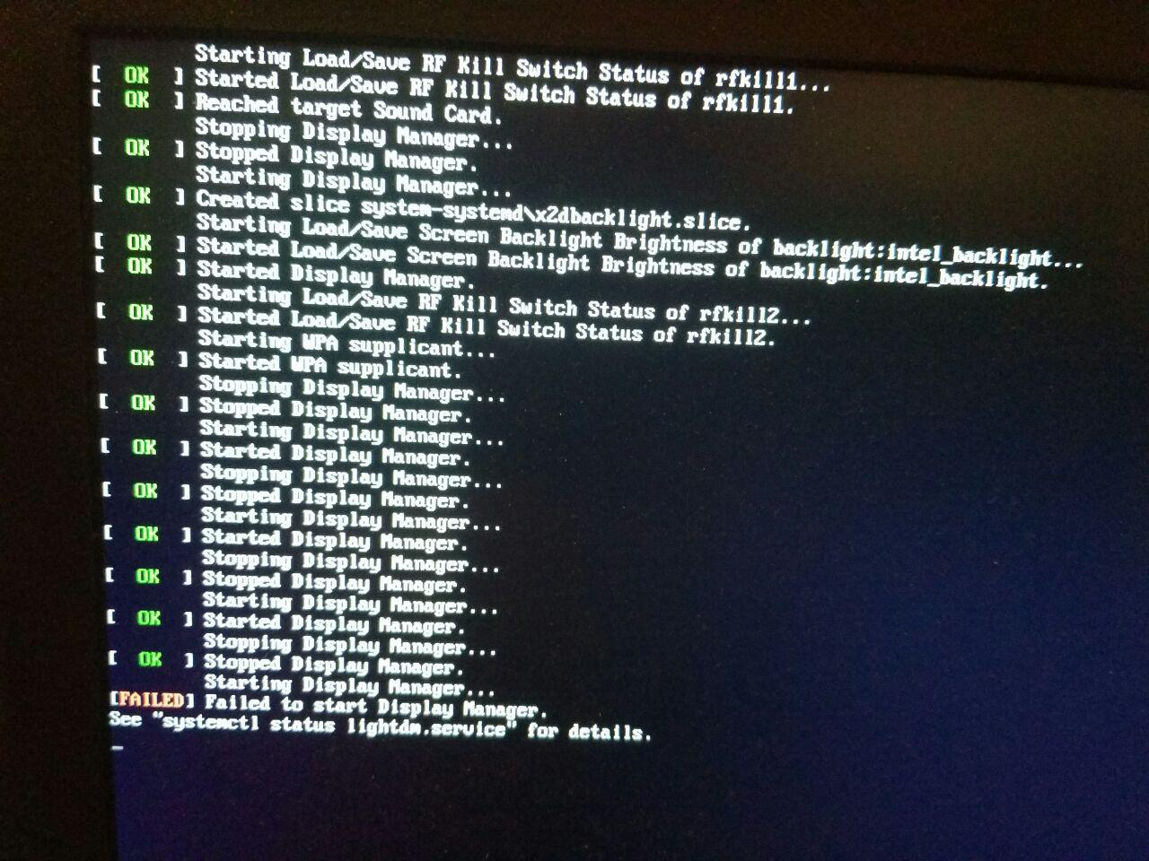 ⚓ T3330 Lightdm failed at boot after installing nvidia driver